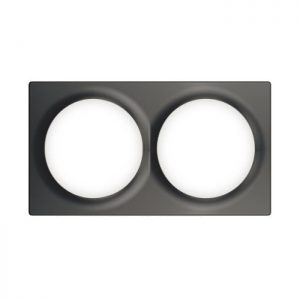 Fibaro Double Cover Plate antracit